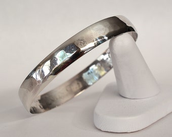 Solid Sterling Silver Low Dome Bangle
