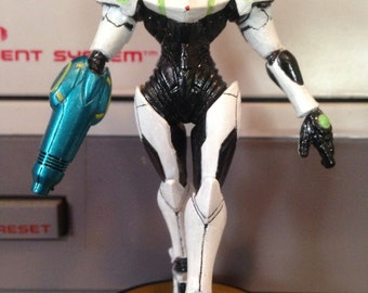 Custom Light Suit Samus amiibo