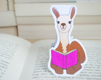 Llama Bookmark, Cute Bookmarks, Magnetic Bookmark, Book Lover Gift, Page Marker, Planner Accessories, Book Marks, Book Lover, Llama Gifts