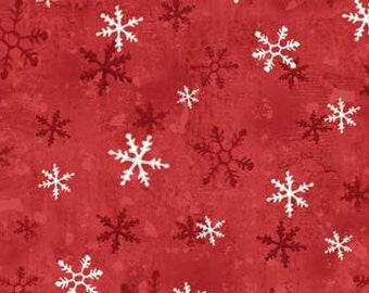 Red Rooster Home for the Holidays Snowflakes 25940 - Red
