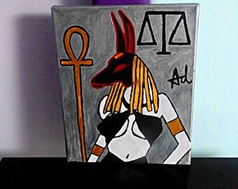 Anubis Goddess (Demona Alexis Black Arts painting)