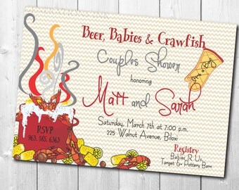Crawfish Boil Invitation Couples Shower printable/Digital File/couples baby shower, seafood boil, gender reveal/Wording can be changed