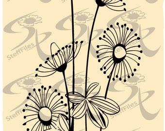 0133  Vector Flower flowering,SVG,DXF, AI, png,eps, jpg,elite decoration clip art Silhouette,Download files, Digital, graphical