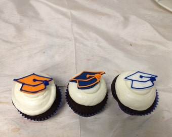 Graduation Hat Cupcake Toppers