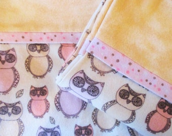 Owls Pillow Cases - Flannel