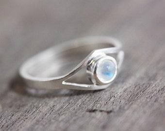 Moonstone eye ring