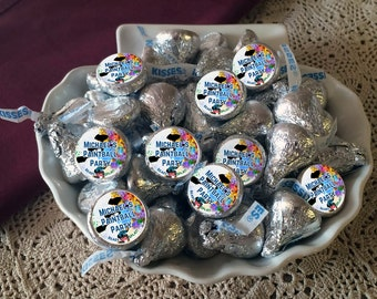 108 Hershey Kiss® Stickers - Paintball Kiss Stickers - Paintball Kiss Seals - Candy Labels - Birthday Favors - Birthday Stickers