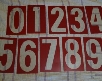 Plexiglas gas station numbers, sold individually