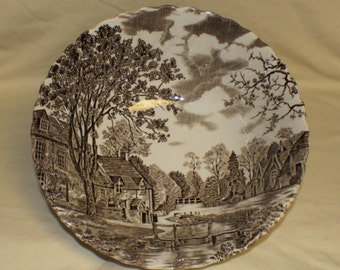 Cotswold Brown Johnson Brothers Large Round Vegetable Serving Bowl Stoke on Trent China