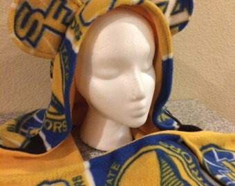 Golden state warriors Scoodie (hooded scarf combo)