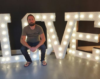 4ft Marquee light up letters 'America font'