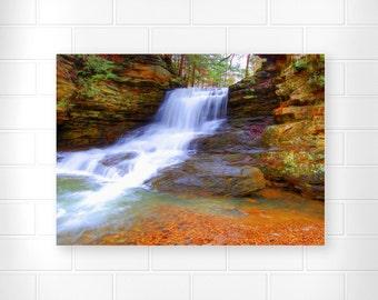 Waterfall Photo Print - Landscape Art - Scenic Wall Art - Landscape Photograph - Home Decor - Spring Decor - Waterfall Picture - Art Print