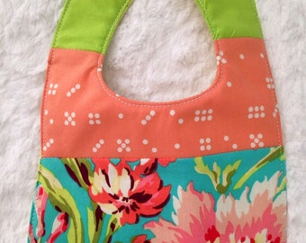 FREE SHIPPING! Bright Amy Butler Floral Bib