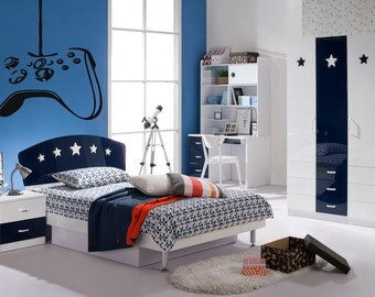 Wall Vinyl Sticker Decals Mural Room Design Decor Art Controller Video Game  X Box Nursery Play Part 54