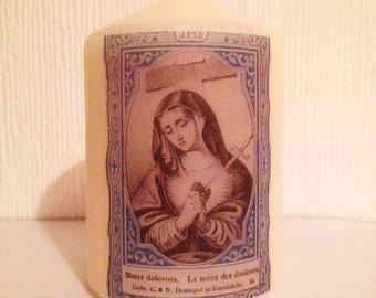 Vintage Mater Dolorosa Candle