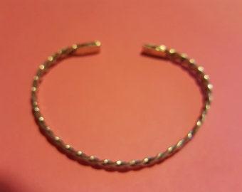 Braided Argentium Wire Cuff Bracelet