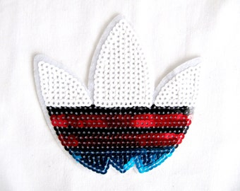 Adidas Applique/ Sew on Adidas Patch /Adidas Sequin Patch