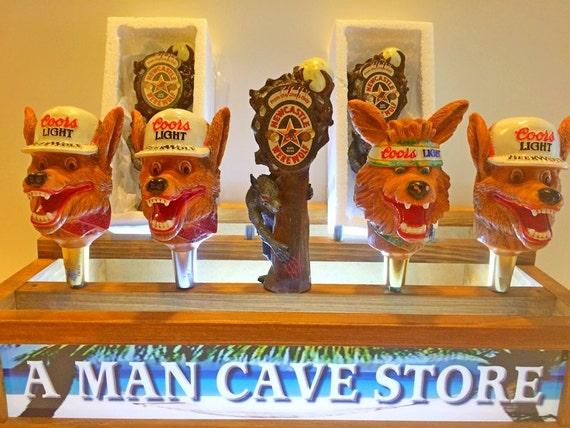 Coors Light Beer Wolf Tap Handles Werewolf Beer