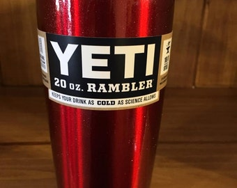 Candy Red Sparkle Yeti 20
