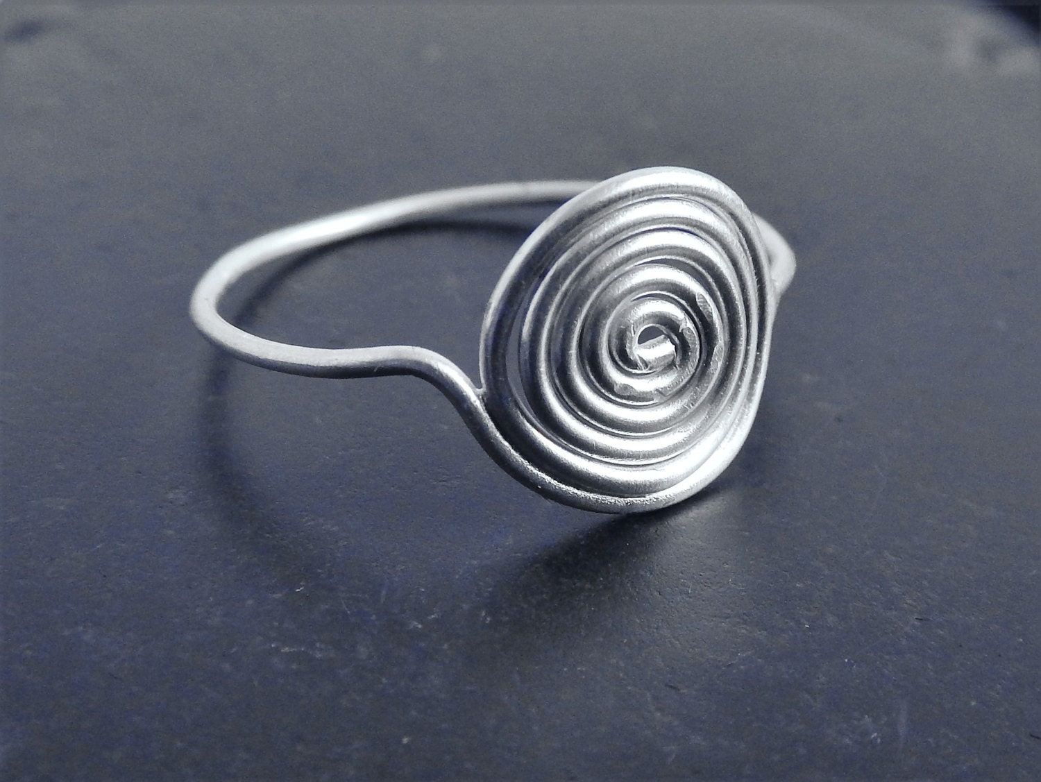 sterling silver spiral ring delicate ring minimalist ring