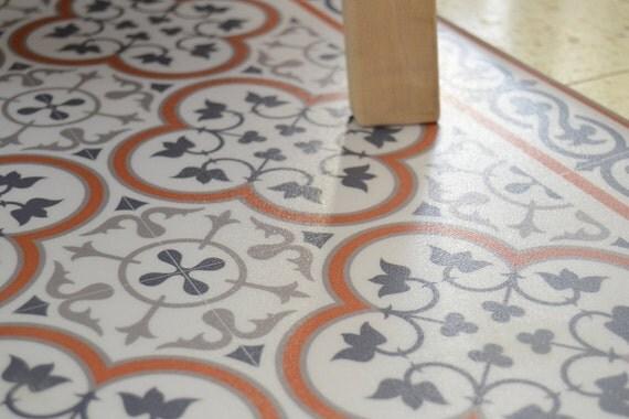 Fliesen Muster Dekorative PVC Matte Farbe orange und von videcor