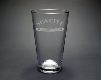 Seattle Pint Glass