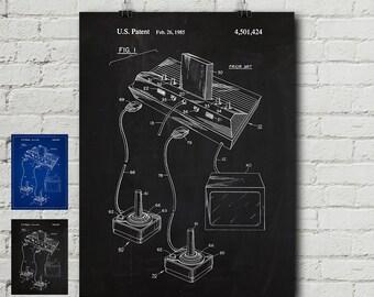 Blueprint Wall Art nintendo blueprint | etsy