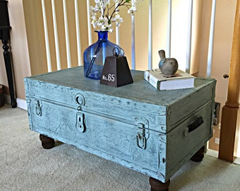 SOLD***Vintage Trunk Table - Coffee Table