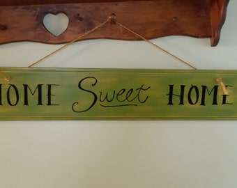 "Homemade ""Home sweet Home"" sign"