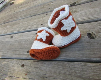 Texas Longhorns Baby Cowboy Boots