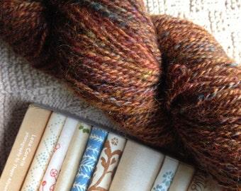 HUGE Skein - Heathered Copper - hand-spun yarn  - 256 yards (more than half a pound)