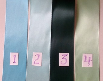 """Offray 1-1/2"""" Blue/Green Double-Face Satin Ribbon"""