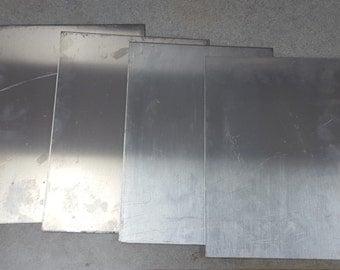 """4 pieces 1/8"""" Aluminum sheet 5052 scrap drop 10-1/2"""" x 12"""" DIY projects"""