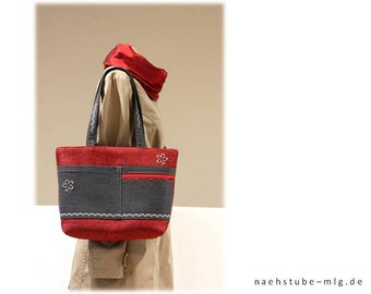 Handbag red, grey