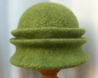 Hand Felted Finn and Merino Wool Hat