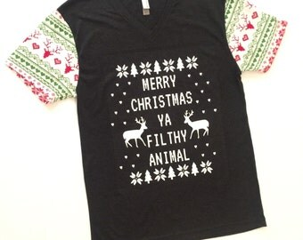 Ugly Christmas Sweater T-Shirt {Adult}
