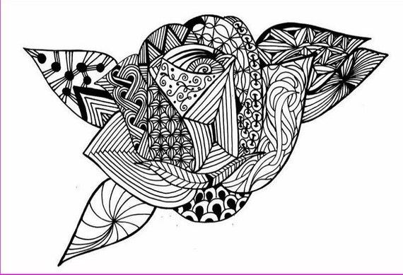Line Art Zendoodle : Rose line art clip zendoodle inspired