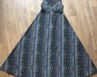 Vintage 70s Nay Floral Maxi Dress, Small