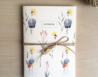 African Crane Pattern Notebook