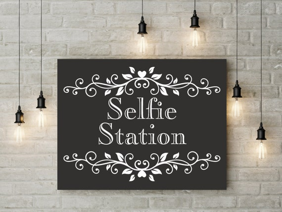 It is an image of Ridiculous Selfie Station Sign Free Printable