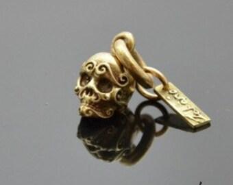 Pendant Ornamented Skull Bronze