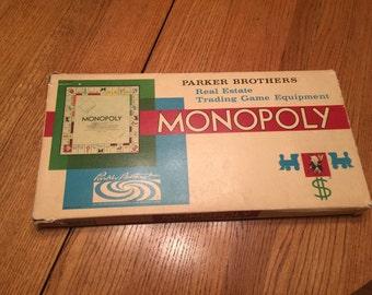 Monopoly vintage Board Game -Complete, Parker Brothers 1961