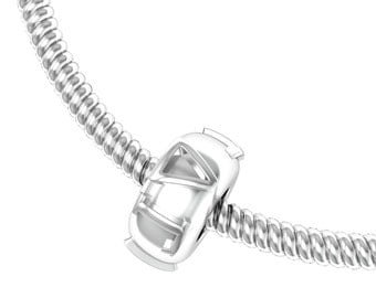 Delta Gamma Bead, Sterling Silver (DG-P009)