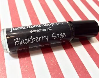 Blackberry Sage Perfume Oil, Blackberry Perfume, Roll On Perfume, Christmas Perfume, Holiday Perfume,  Sage Perfume, Fruit Perfume