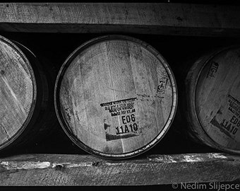 Maker's Mark Bourbon Aging Whiskey Barrel Distillery, Bourbon County, Kentucky. Bourbon Photo Art Print for Home Man Cave Bar Wall Art