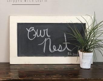 farmhouse chalkboard white wedding chalkboard framed chalkboard