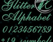 50% OFF Mint Green Glitter Alphabet, Digital Glitter Alpha, Green Digital Alphabet Letters, Green Glitter Letters, Large Glitter Letters,Des