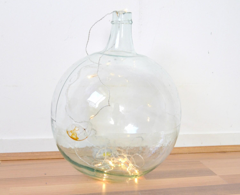 bonbonne dame jeanne 20 litres en verre souffl clair. Black Bedroom Furniture Sets. Home Design Ideas