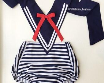 vintage style sailor romper