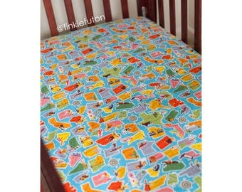Finkie Fitted Crib Sheet